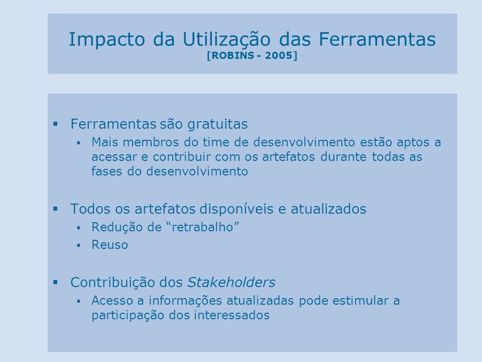 Impacto da Utilização das Ferramentas [ROBINS - 2005]